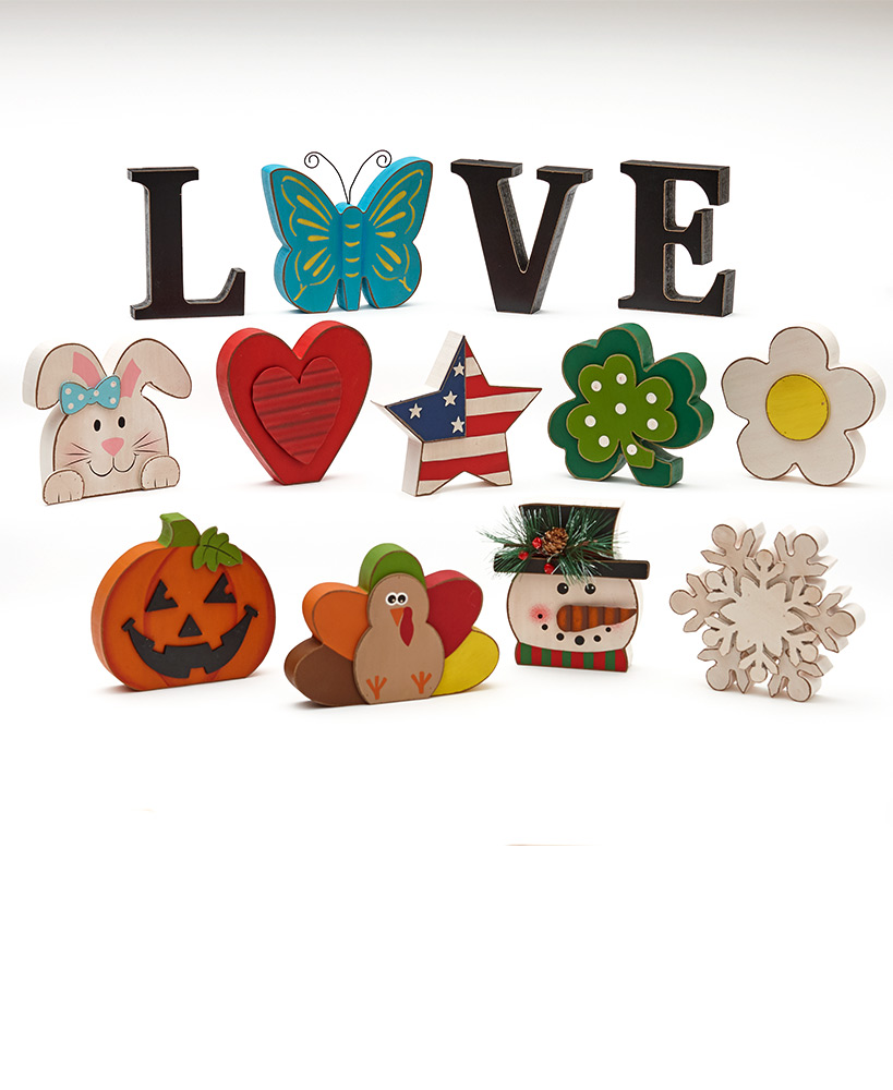 Interchangeable Love Sentiment or Icon Sets