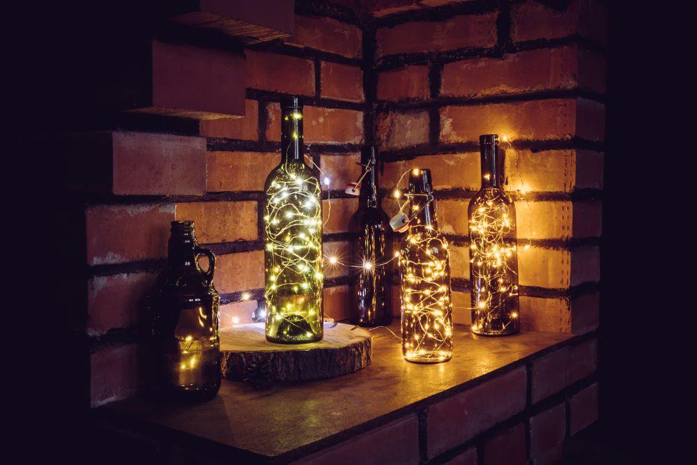 Decorate With Warm Fall String Lights