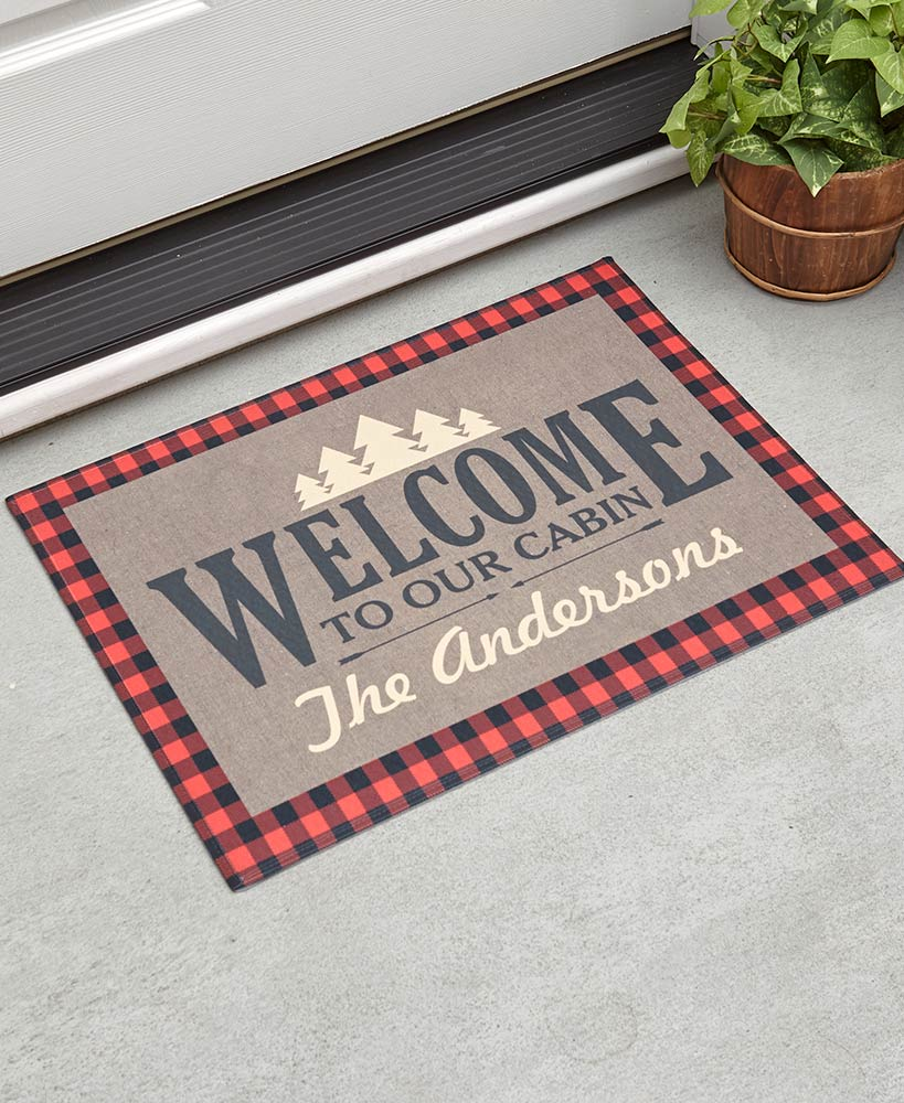 Personalized Cabin Welcome Mat