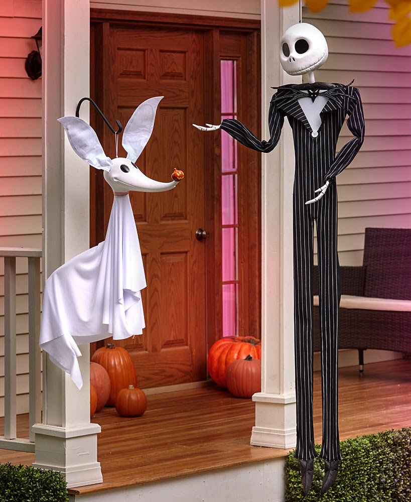 Outdoor Halloween Decorations - Nightmare Before Christmas Poseable Characters