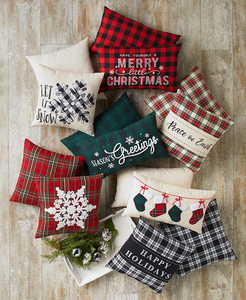classic christmas decorating ideas - Holiday Accent Pillows