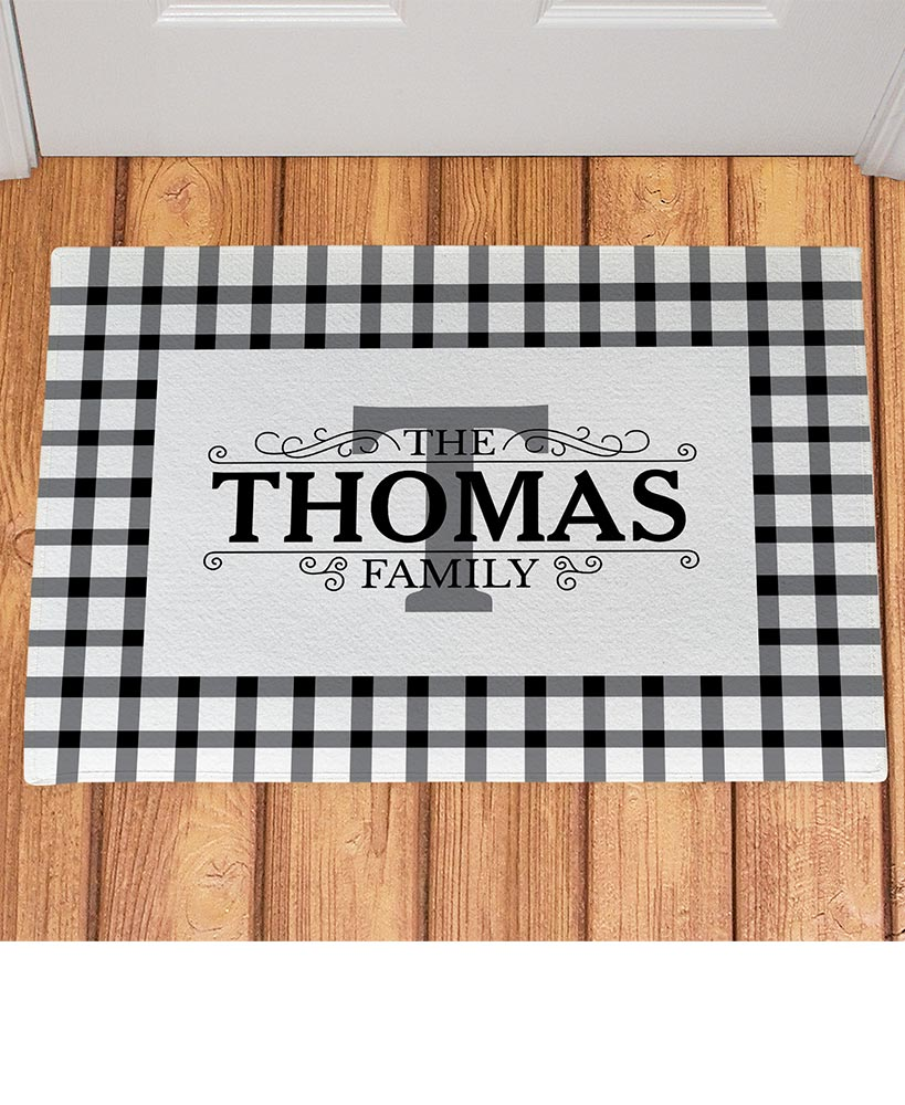 Personalized Country Plaid Doormats