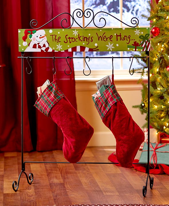 classic christmas decorating ideas - Standing Holiday Stocking Hanger