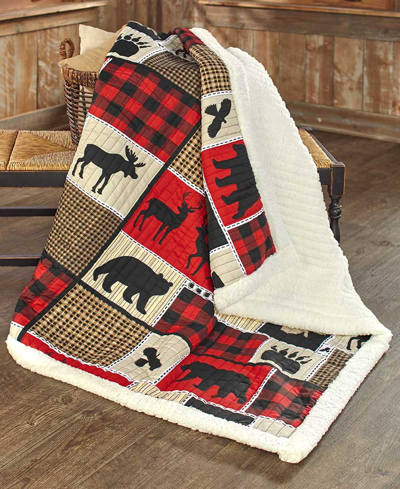Wilderness Plaid Throw Blanket