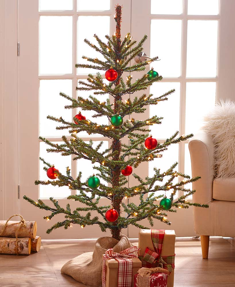 4-Ft. Lighted Country Christmas Tree