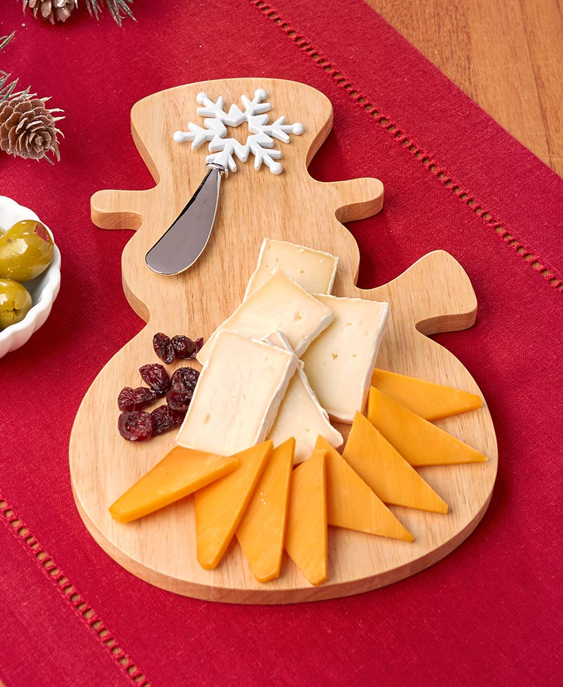 Snowman Cheese Board and Spreader