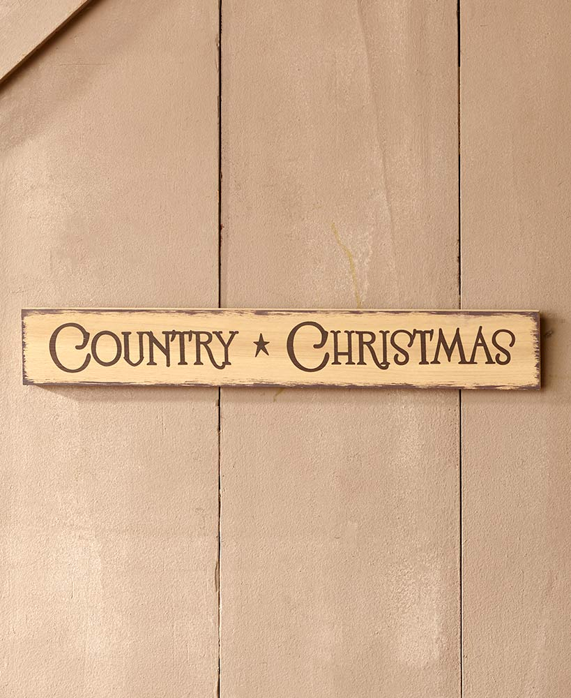 Holiday Sentiment Signs - Country Christmas