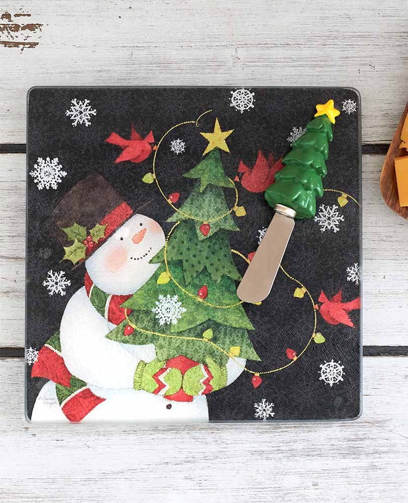 Snowman Cutting Board and Spreader Sets