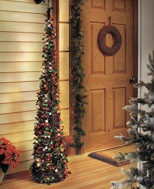 "65"" Lighted Christmas Trees"