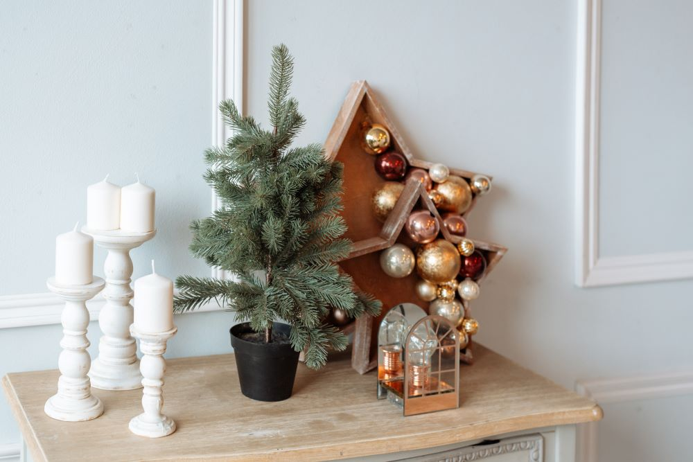 Christmas Accents On Side Table