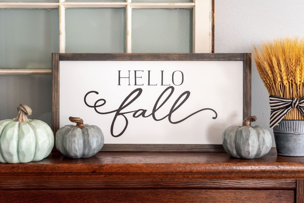 fall activities to do at home - fall decorations