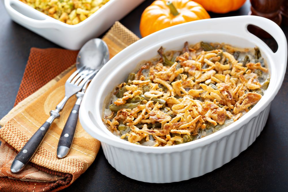 Thanksgiving dishes to make ahead of time - green bean casserole