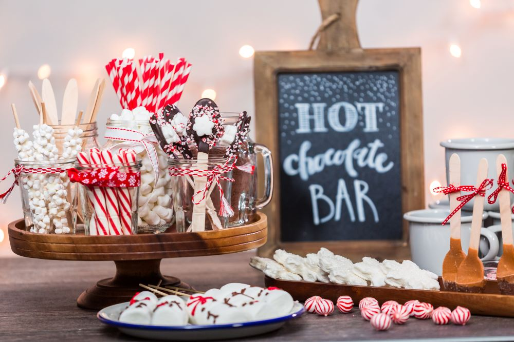 fall activities to do at home - set up a hot chocolate bar
