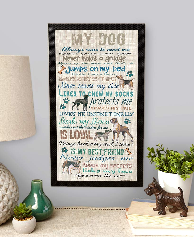 My Dog Wooden Wall Sentiment Sign