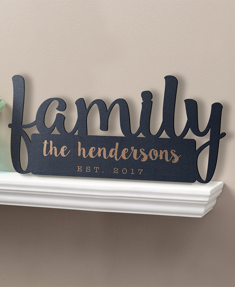 Our Family Personalized Wood Plaque