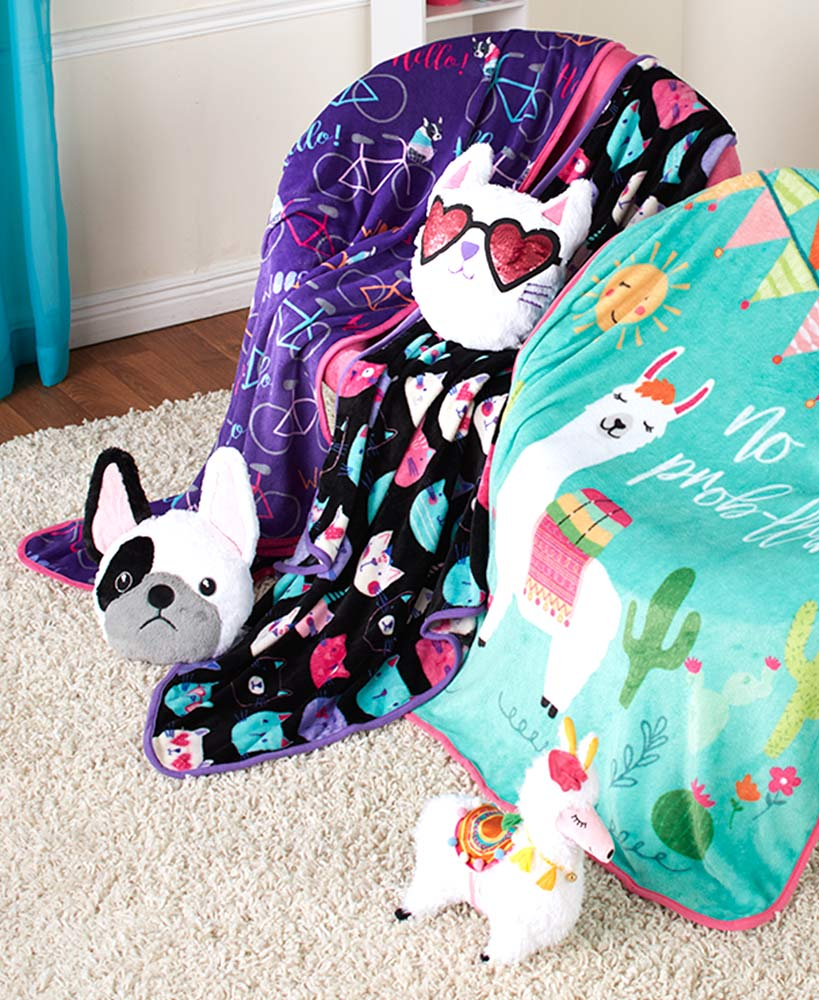 2-Pc. Novelty Pillow and Throw Sets