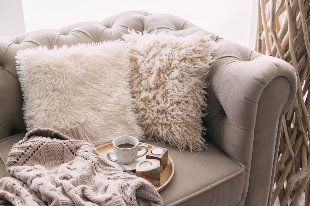 Faux Fur Pillows and Blankets