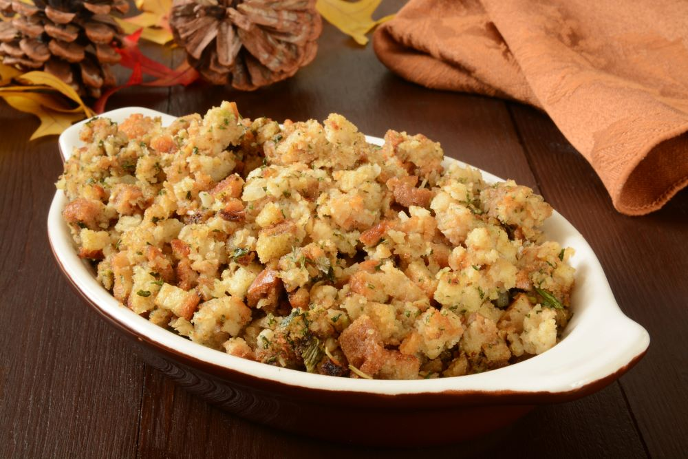 Thanksgiving dishes to make ahead of time -  slow cooker stuffing