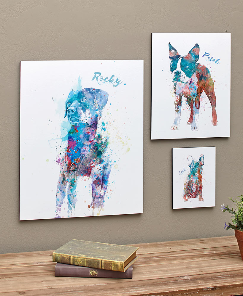Personalized Watercolor Dog Breed Wall Art