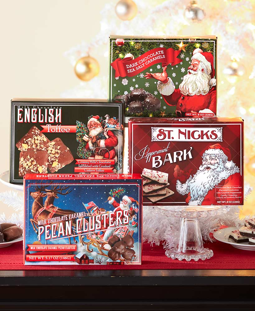 Vintage-Inspired Holiday Chocolate Gift Boxes