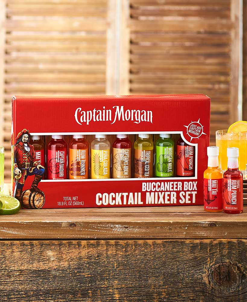 Captain Morgan Cocktail Mixer Gift Sets