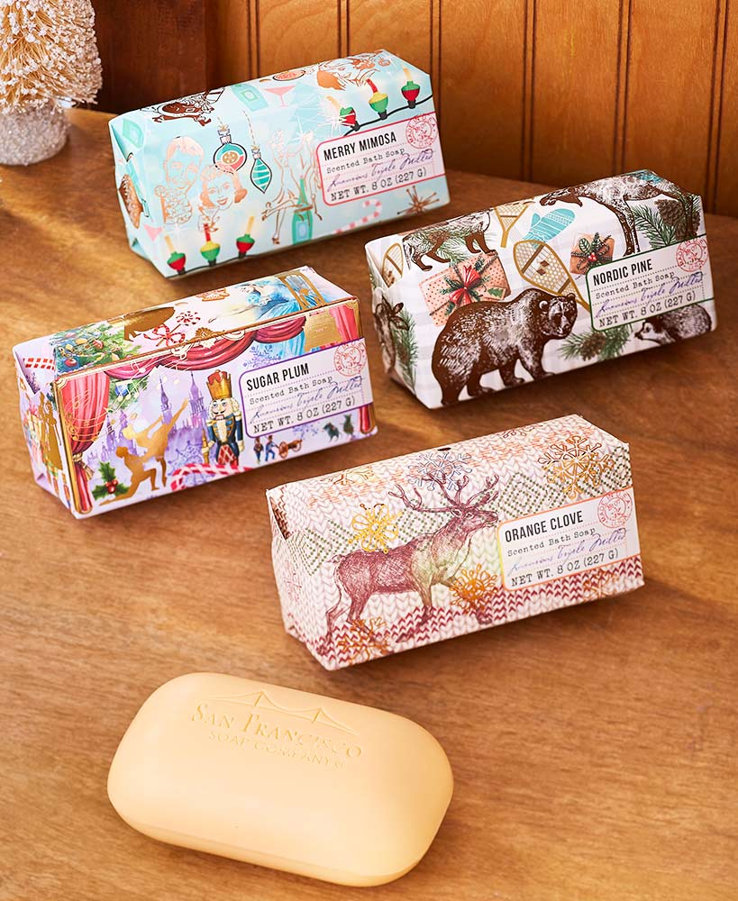 Ready-to-Give Holiday Soap Bars