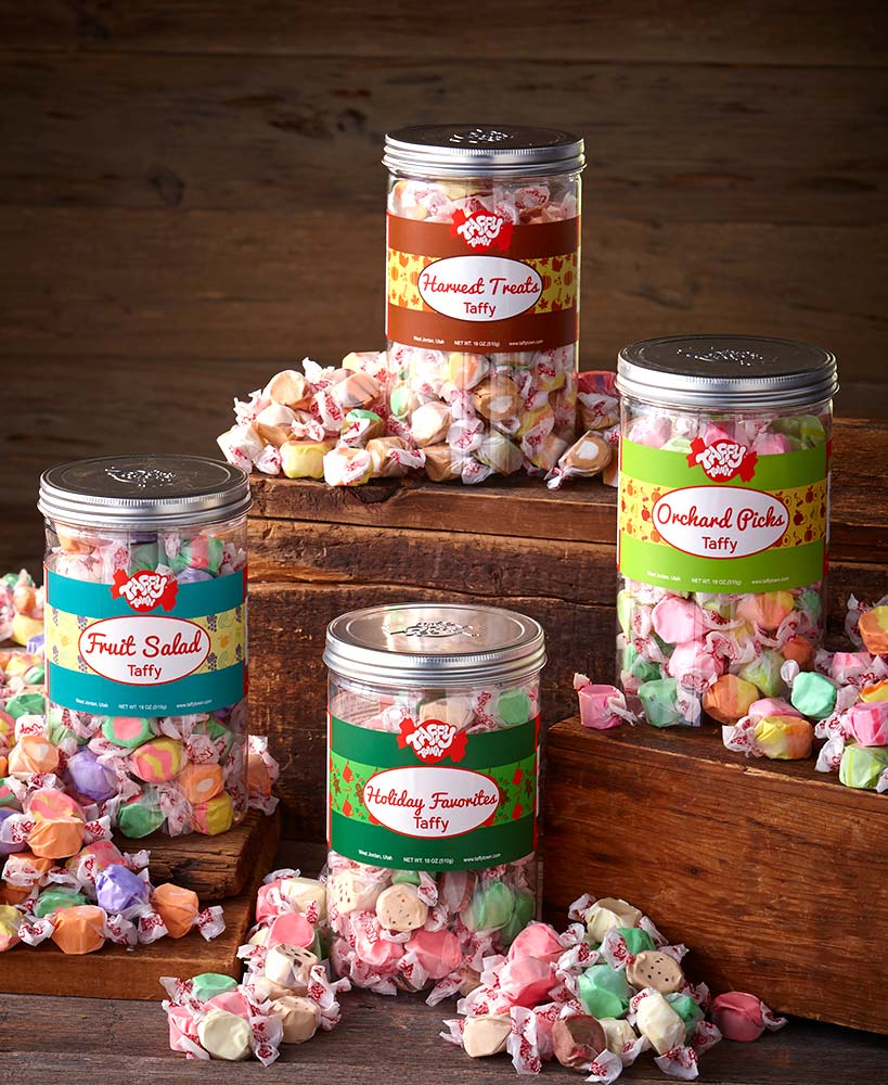 18-Oz. Gourmet Taffy Gift Canisters