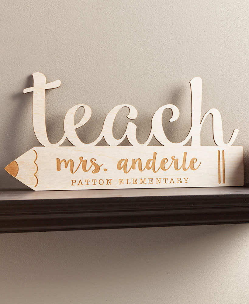 Personalized Teacher Wood Plaques