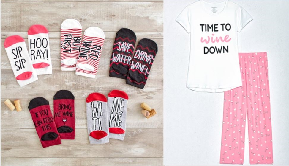 Gifts for Wine Lovers - Wine Socks and Wine Pajamas