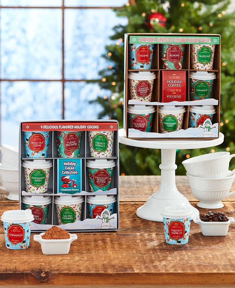 Sets of 9 Warm Winter Drinks - Cocoa or Coffee