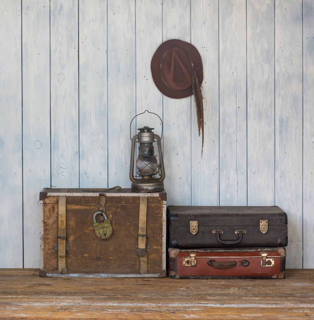 Vintage Decor - Vintage Suitcases As Side Tables