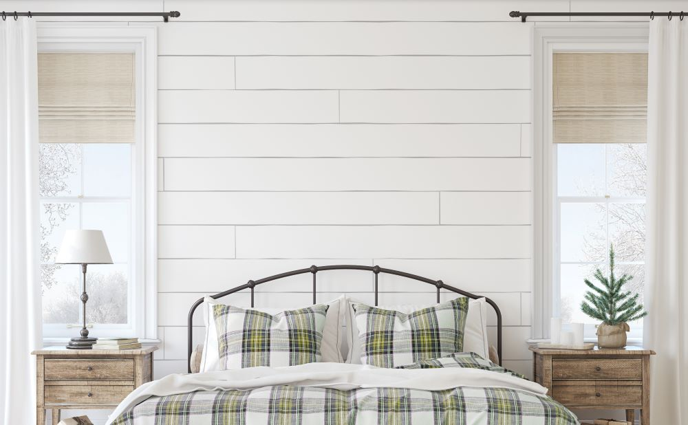 Farmhouse Shiplap Accent Wall