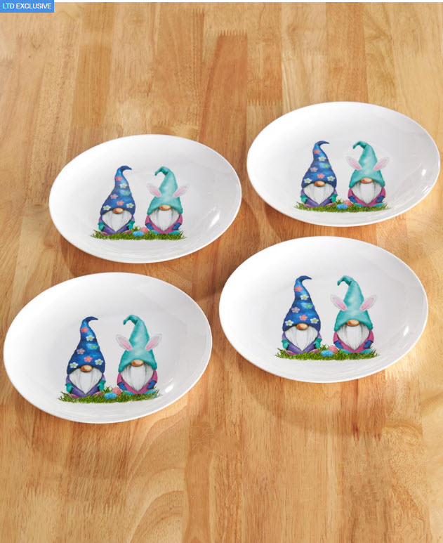 Easter Table Decorating Ideas - Easter Gnome Dinner Plates