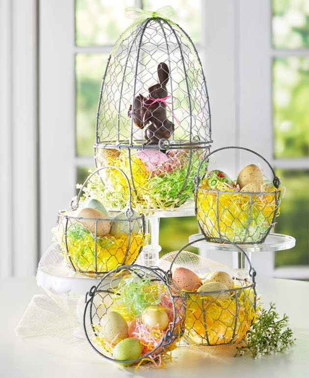 Easter Table Decorating Ideas - Farmhouse Basket Collection