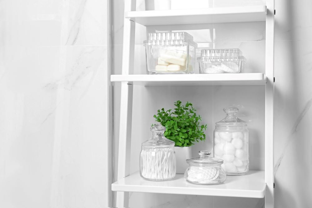Make Your Bathroom Look Luxurious - Glass Storage Containers