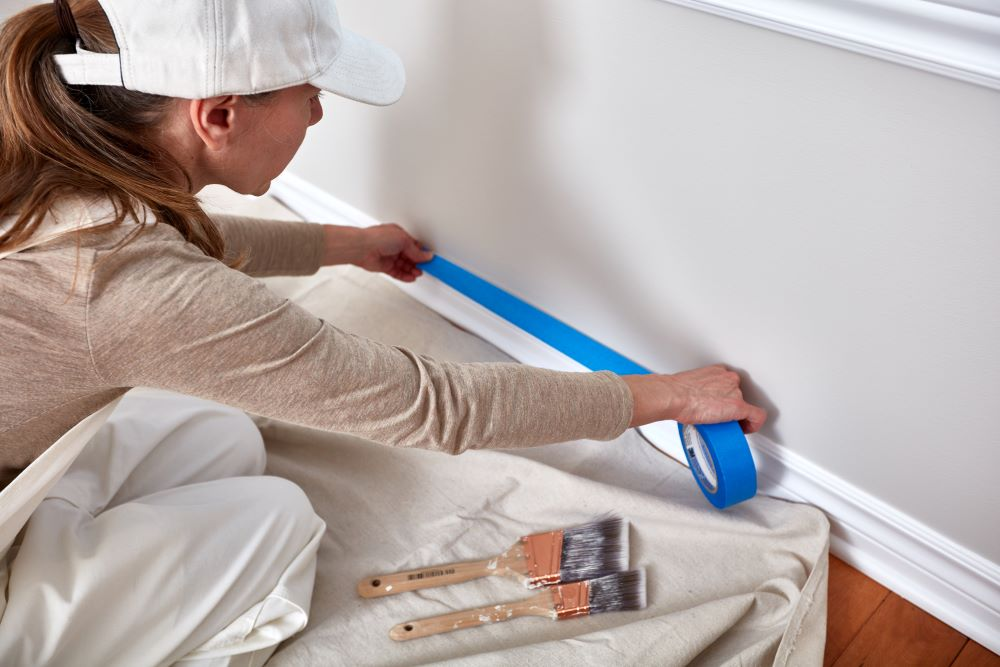 How To Paint A Room - Prep With Painter's Tape