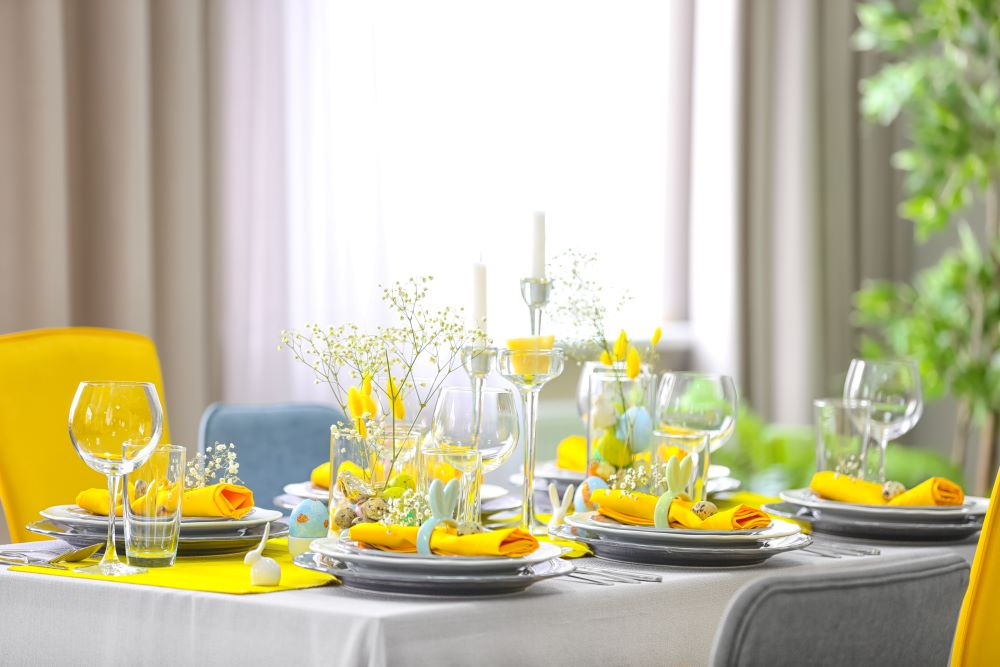 Spring Decor - Brightly Decorated Dining Table