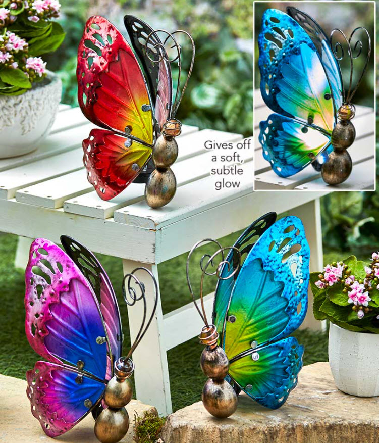 Mother's Day gift Ideas - Solar Glass Butterfly Accent Lights