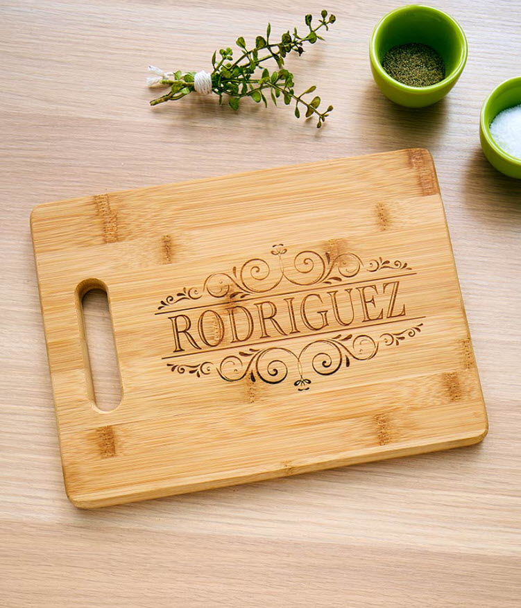 Mother's Day Gift Ideas - Personalized Bamboo Cutting Boards