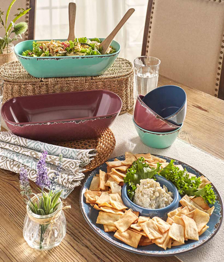 Mother's Day Gift Ideas - Rustic Melamine Serving Collection