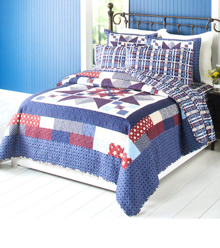Americana Quilted Bedding Collection