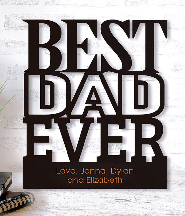 Father's Day Gift Guide - Personalized Best Dad Wood Plaques
