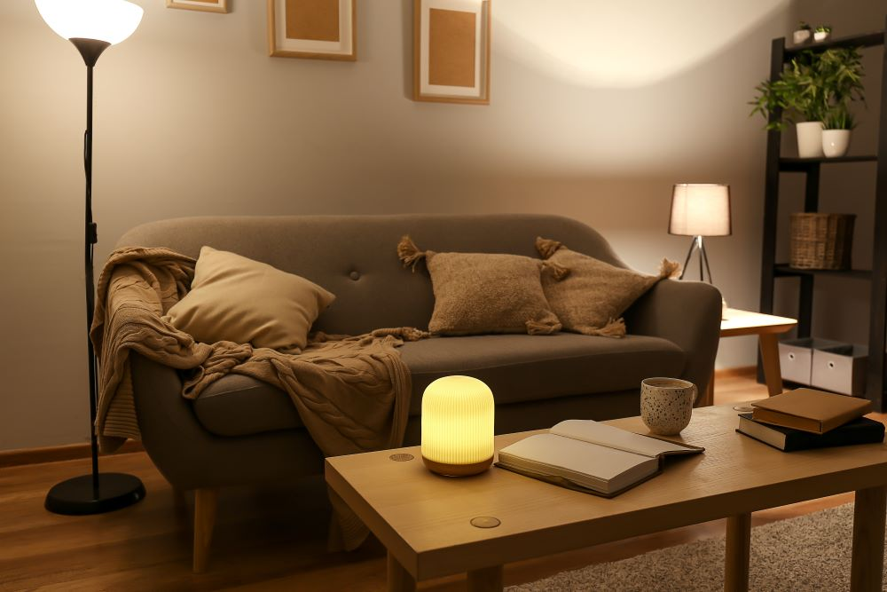 add new lighting and lamps to your living room