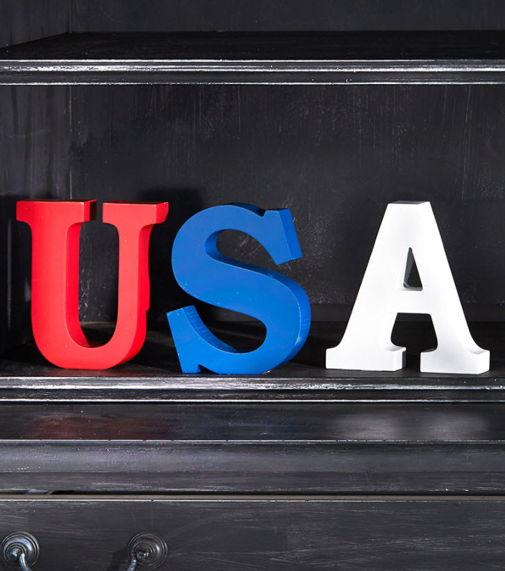 Tabletop USA Block Letters