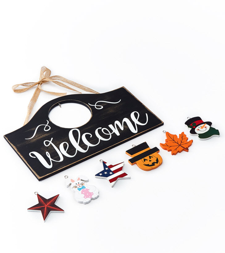 Interchangeable Welcome Sign or Icon Set