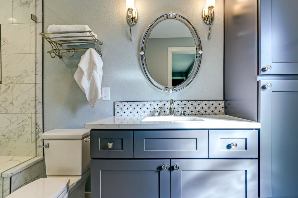 Paint your bathroom cabinets