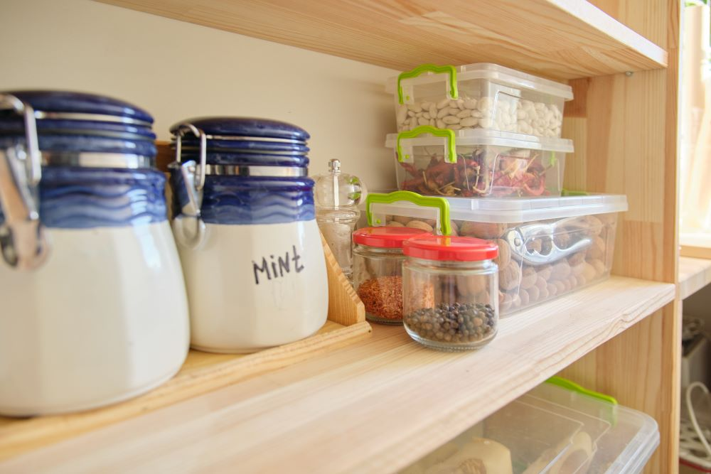 Small Kitchen Storage ideas - stackable storage containers
