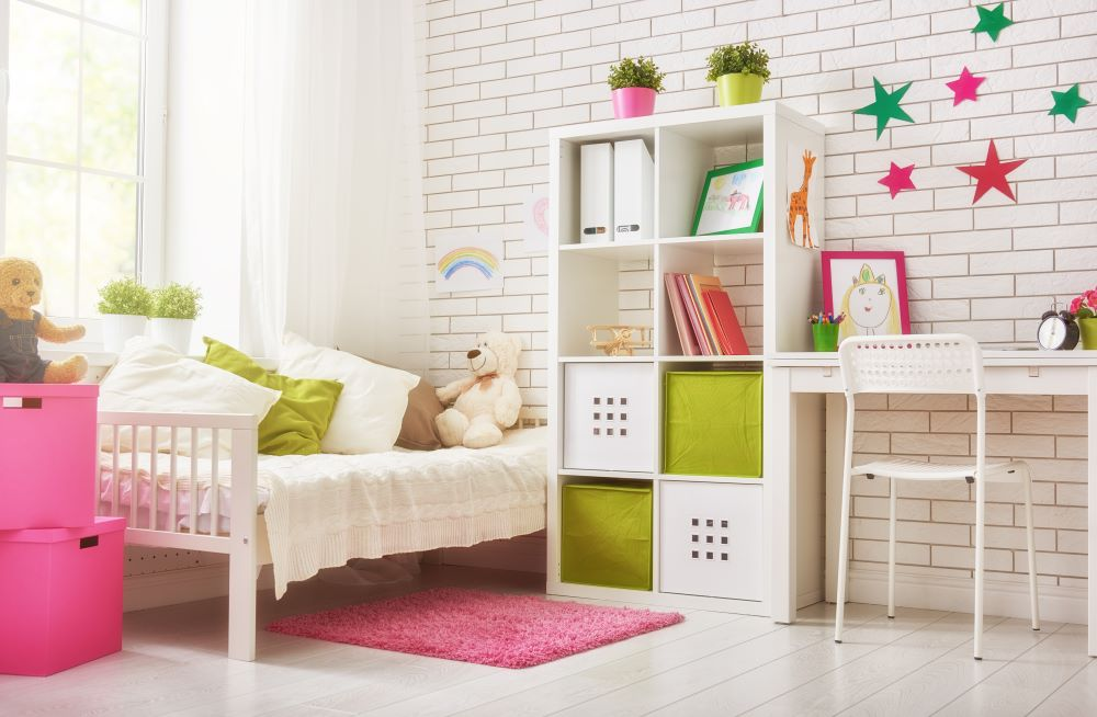 Decorate A Kid's Bedroom On A Budget - cubby shelves