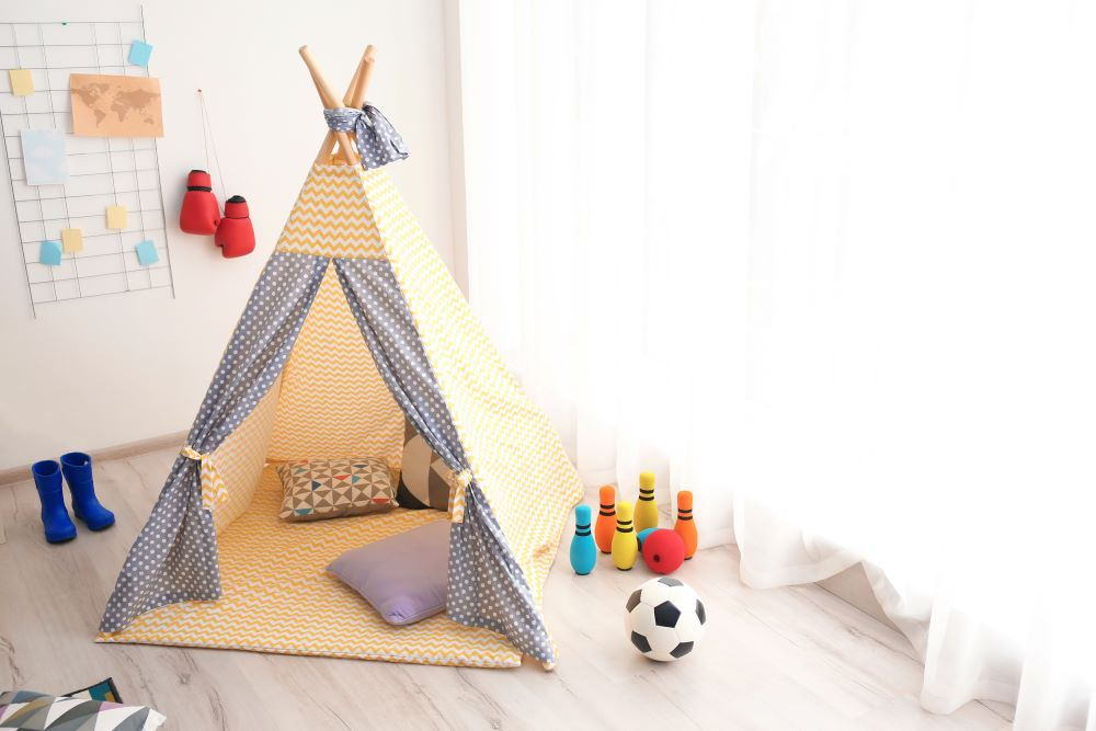 Decorate A Kid's Bedroom On A Budget - kids teepee tent