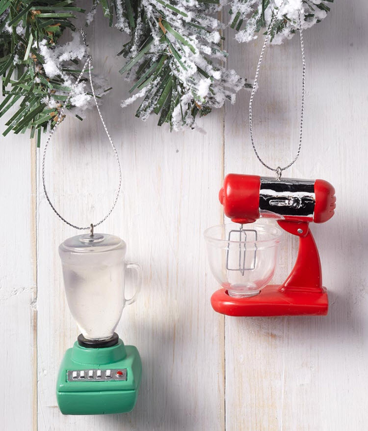 christmas in july sale - Set Of 2 Kitchen Appliance Ornaments